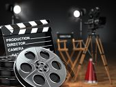 foto of clapper board  - Video - JPG