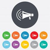 image of striking  - Megaphone sign icon - JPG