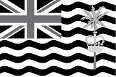 image of grayscale  - An Illustrated grayscale flag of the country of British Indian Ocean Territory - JPG