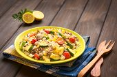 picture of zucchini  - Rice dish with mincemeat and vegetables  - JPG