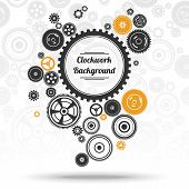 Постер, плакат: Gearwheel Mechanism Background