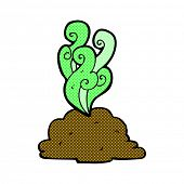 picture of smelly  - retro comic book style cartoon smelly poop - JPG