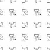stock photo of taser  - Seamless vector pattern for electroshock or stun gun for self - JPG