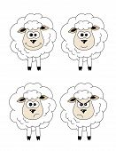 stock photo of sarcasm  - Set of emoticons sheep isolated on a white background - JPG
