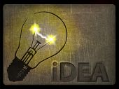 picture of sparking  - Illustration of a light bulb with a spark - JPG