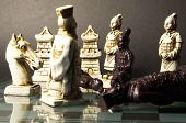 picture of humility  - Black pawn on his knees in front of the white king - JPG