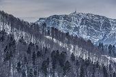 stock photo of relay  - Bleak wintry landscape with Costila peak  - JPG
