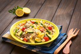 picture of sweet-corn  - Rice dish with mincemeat and vegetables  - JPG