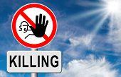 image of kill  - stop killing no guns ban weapons end the war and violence - JPG