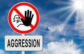 picture of stop fighting  - stop verbal or physical aggression - JPG