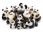 picture of pandas  - Panda made of clay isolated on white background - JPG