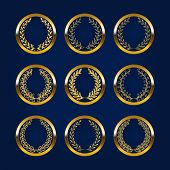 pic of medal  - Set of luxury gold labels - JPG