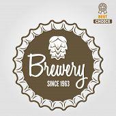 pic of brew  - Set of vintage logo or logotype elements for beer - JPG