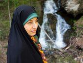stock photo of hijab  - Beautiful Muslim woman with hijab - JPG