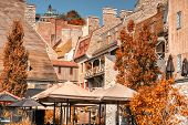 picture of fall day  - Buildings in Old Quebec city - JPG
