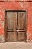 stock photo of door  - old wooden door  - JPG