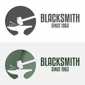picture of blacksmith shop  - Set of logo and logotype elements for blacksmith - JPG