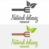 Set of logo and logotype elements for restaurant, cafe or bar poster