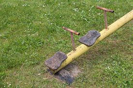 picture of seesaw  - vintage toy - JPG