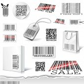 pic of qr-code  - vector barcodes - JPG