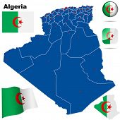 picture of algiers  - Algeria vector set - JPG