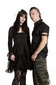 picture of emo-boy  - unk fashion girl and boy in black clothes - JPG