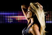 stock photo of night-club  - Beautiful woman at a night club - JPG