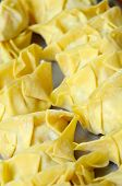 picture of wanton  - Fresh Oriental wanton dumplings ready to be cooked - JPG