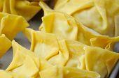 stock photo of wanton  - Macro shot of wanton dumpling skin - JPG