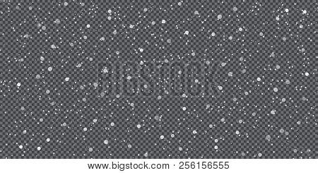 Falling snow on