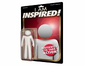 Inspired Person Motivated Inspiration Action Figure 3d Illustration poster