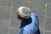 stock photo of tora  - man wearing jewish kippa - JPG