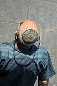 image of tora  - man wearing jewish kippa - JPG