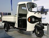 three wheeler pickup at autoexpo in delhi, india