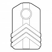 Shoulder Straps Icon. Outline Illustration Of Shoulder Straps Icon For Web poster