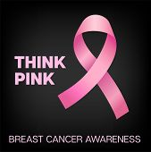 Breast Cancer Awareness Elegant Vector Background. Realistic Pink Ribbon Illustration For Medical Fl poster