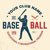Baseball Club Badge. Vector Illustration. Concept For Shirt Or Logo, Print, Stamp Or Tee. Vintage Ty poster
