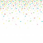 Seamless Pattern With Colorful Sprinkles. poster