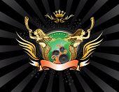 stock photo of valkyrie  - Valkyrie Music Emblem - JPG