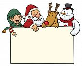 image of christmas cards  - Christmas card with cute characters on top - JPG
