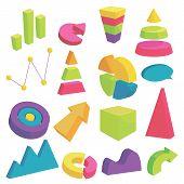 Infographic Items Icons Set. Cartoon Illustration Of 16 Infographic Items Icons For Web poster