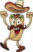 image of tacos  - Cartoon mexican taco - JPG
