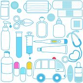 picture of paracetamol  - Cute vector icons - JPG