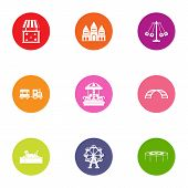 Game Movement Icons Set. Flat Set Of 9 Game Movement Vector Icons For Web Isolated On White Backgrou poster