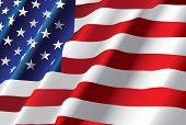 Постер, плакат: вектор американский флаг