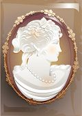 stock photo of cameos  - vintage victorian cameo - JPG