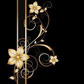Постер, плакат: Абстрактный цветочный фон Элемент для дизайна