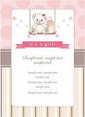image of newborn baby girl  - New baby girl shower invitation - JPG