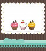 stock photo of thank you  - Cupcake thank you card - JPG