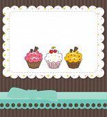 foto of thank you card  - Cupcake thank you card - JPG